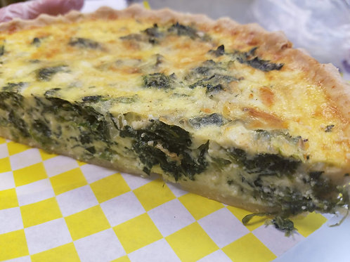 Spinach and Four Cheese Quiche