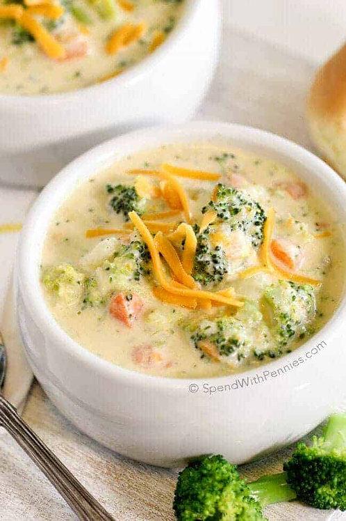 Cheesy Cream of Broccoli Soup