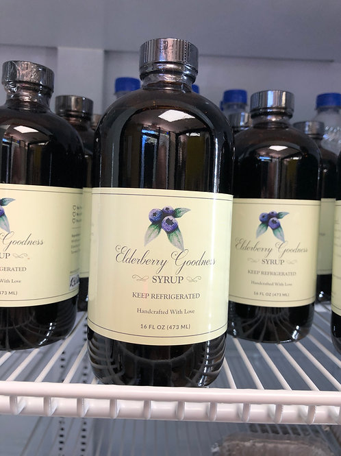 NEW! Elderberry Goodness Syrup 16 oz