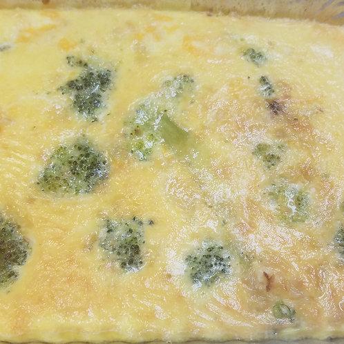 Broccoli & Cheddar Frittata (Vegetarian)