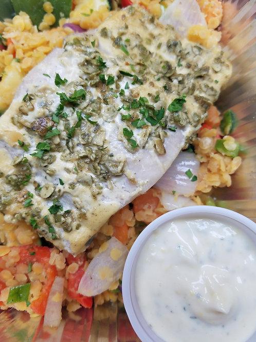 NEW! Mahi Mahi with Lemon Herb-Pepita Crust