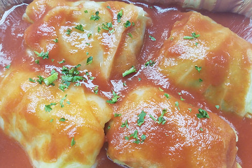 Beef & Rice Stuffed Cabbage Rolls