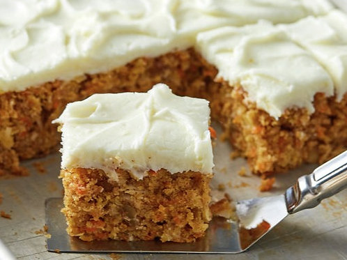 Carrot Cake with Cream Cheese Icing & Walnuts