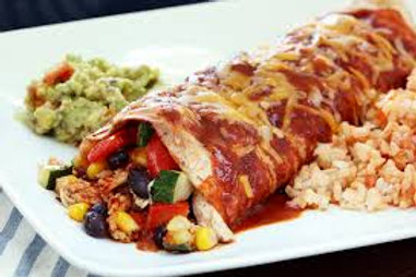 """""""Healthy Start"""" Chicken-Veggie Enchiladas"""