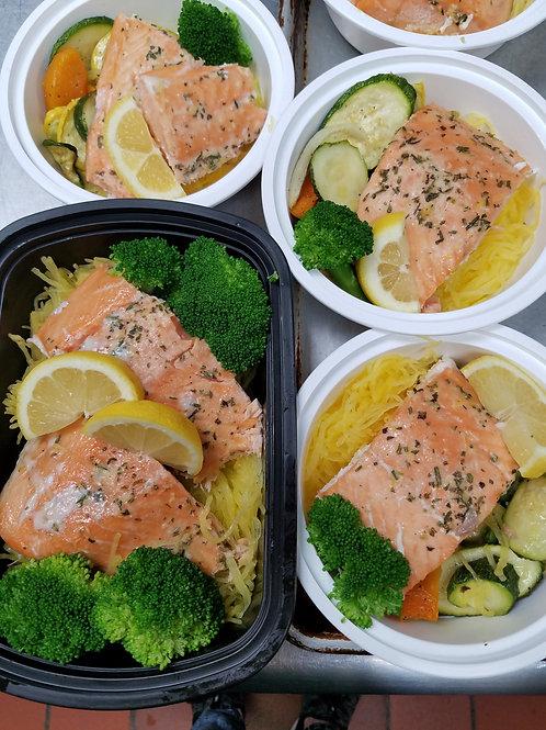 """Healthy Start"" Lemon Herb Salmon"
