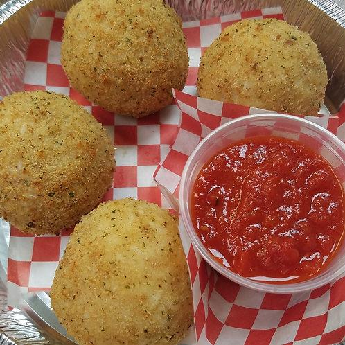 """Arancini"" Rice Balls with Marinara"