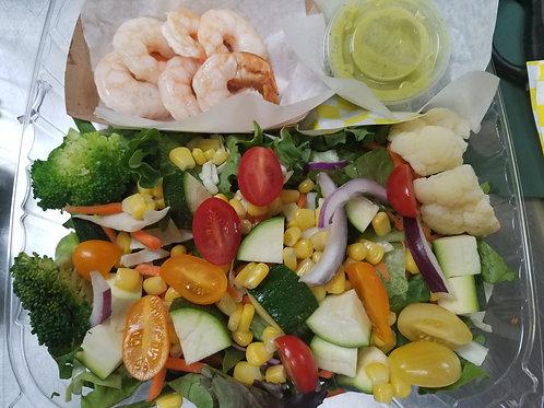 """Healthy Start"" Shrimp & Corn Chopped Salad Bowl"