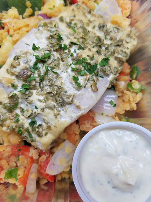 NEW! Baked Lemon-Garlic Mahi Mahi