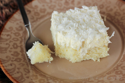 Coconut Cake with Whipped Coconut  Frosting