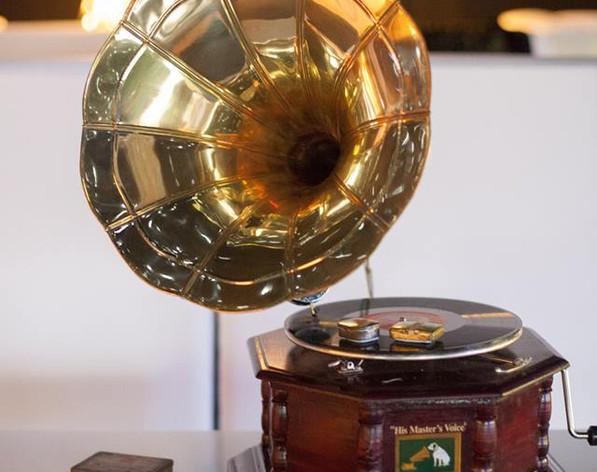 Gramophone vintage prop hire decoration
