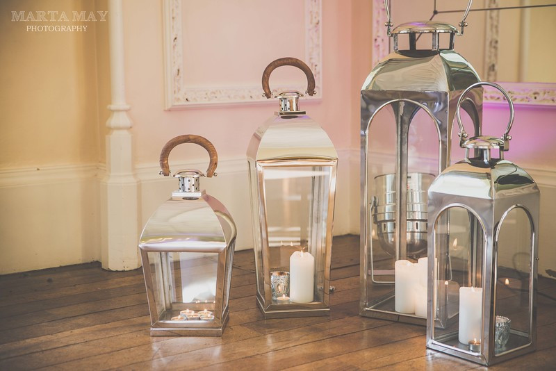 Chrome Lanterns Venue Lighting Hire