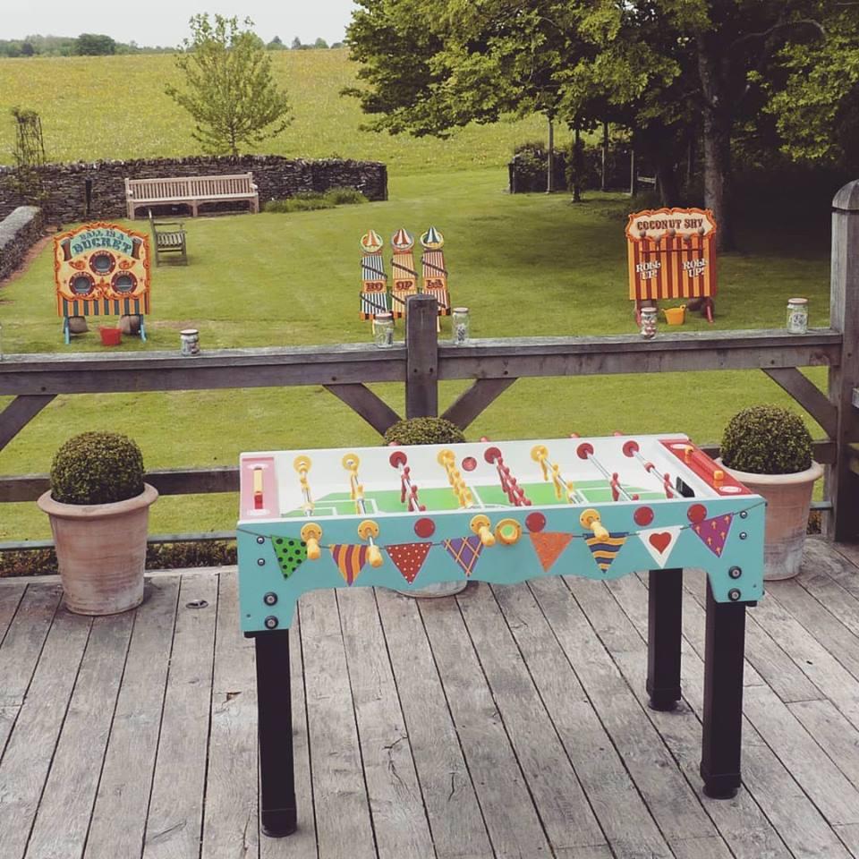 Garden games for hire table football