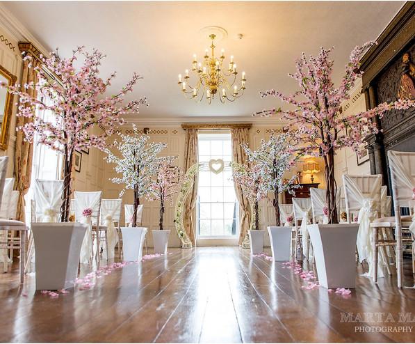 Wedding blossom tree hire ceremony