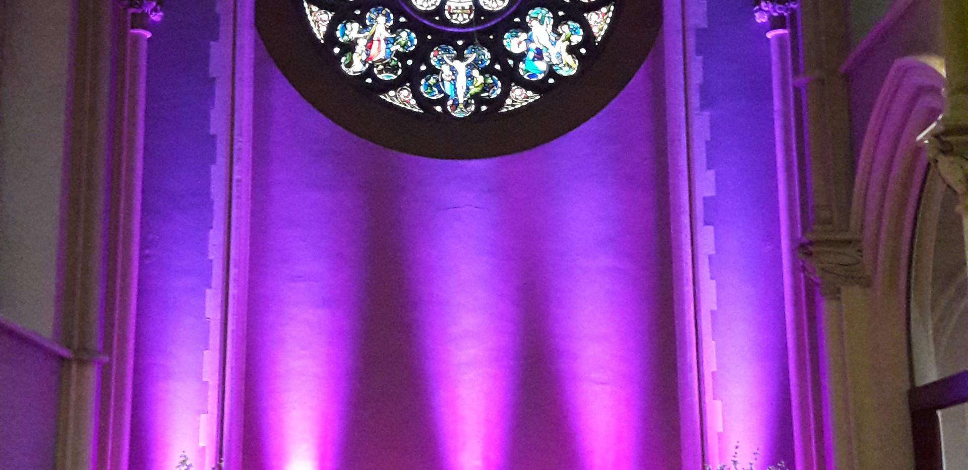 LED venue uplighters lighting hire