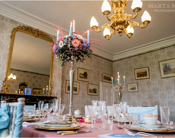 Chrome Candelabra 100cm 5 Armed Table Centrepiece Decoration