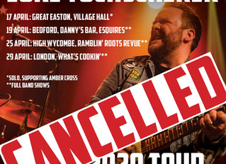 April UK shows cancelled