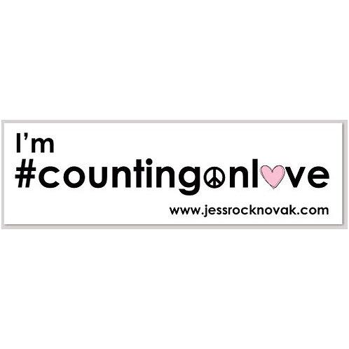 #countingonlove sticker