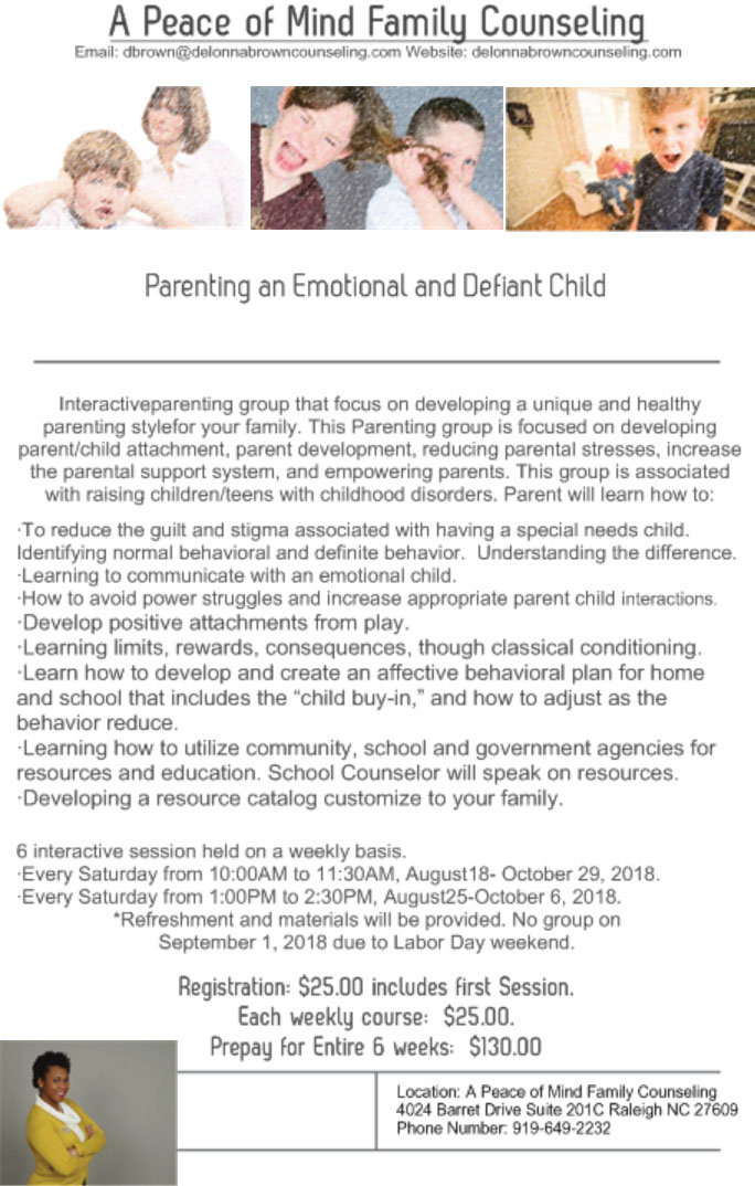 Parenting an Emotional and Defiant Child