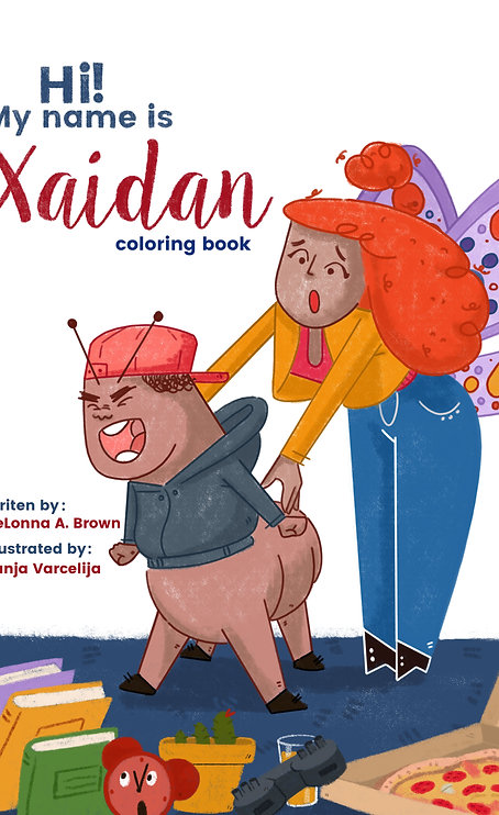 Hi! My name is Xaidan coloring book