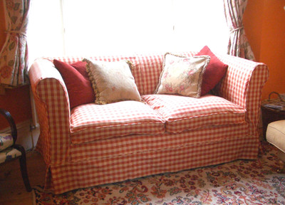 Sofa Cover in Gingham