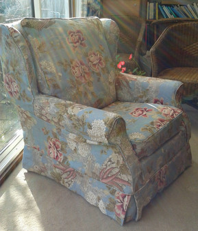 Wingback Chair Loose Cover.