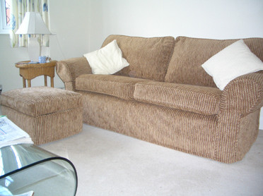 Sofa and footstool loose covers