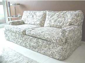 Piped sofa loose cover
