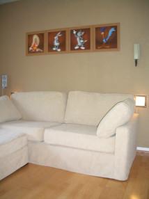 Neat corner sofa cover
