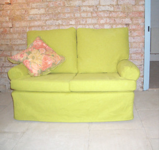 Lime green loose covers