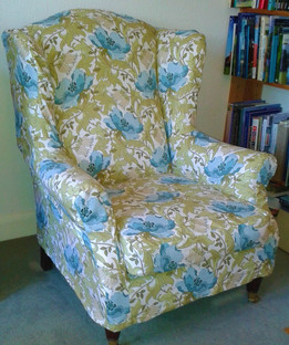 floral wingback chair cover