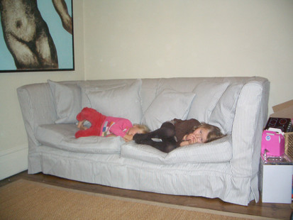High backed sofa cover