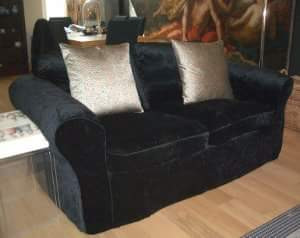 Glam style sofa cover