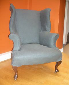 Wingback chair loose cover