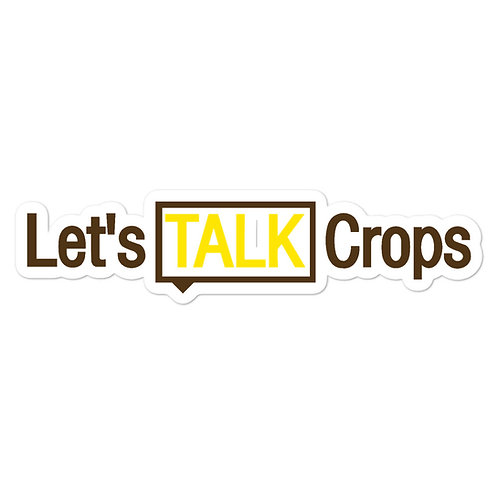 Let's Talk Crops Sticker