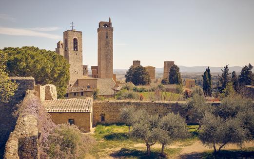 """""""Garden at San Gimignano"""""""