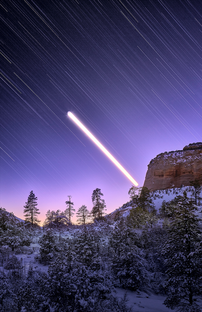 """Moon Trail Over Zion"""