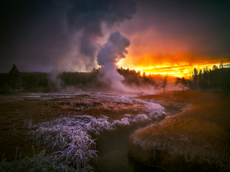 """A Frosty Dawn in Yellowstone"""