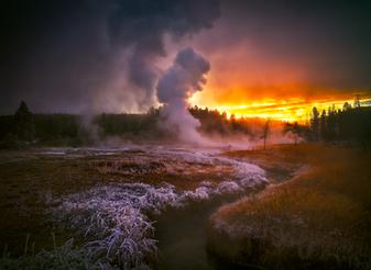"""A Frosty Dawn in Yellowstone"""