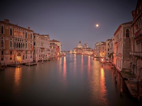 """Moonrise at Accademia"""