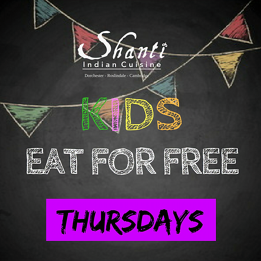 """""""Kids Eat For Free"""" THURSDAYS"""
