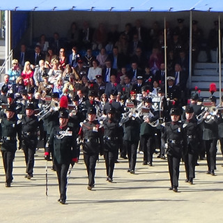 The Band and Bugles of the Rifles during their accelerando to 'In The Hall of the Mountain King'