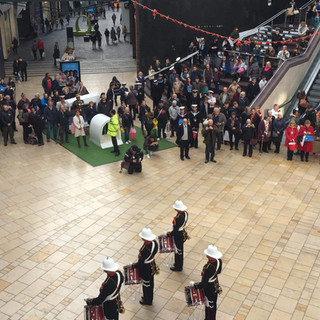 The Band of HM Royal Marines Plymouth's Corps of Drums