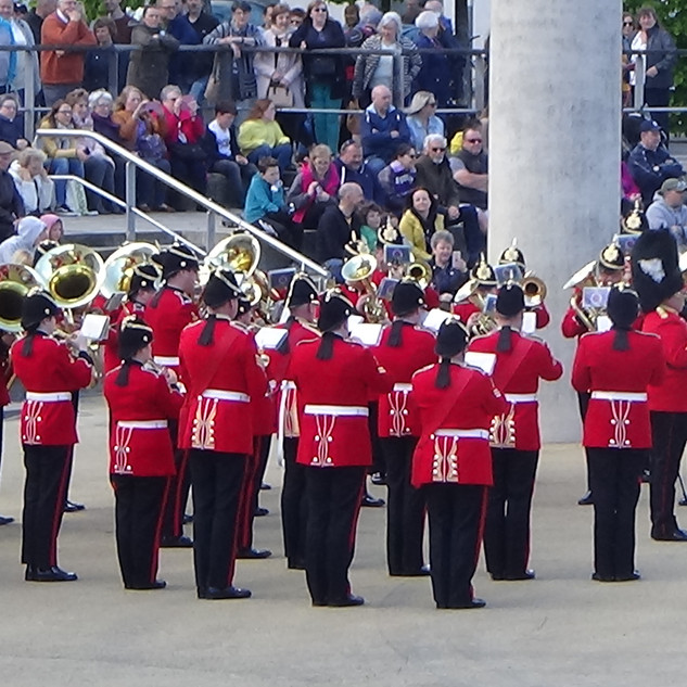 The Royal Welsh Band performing alongside the Llandovery Male Voice Choir