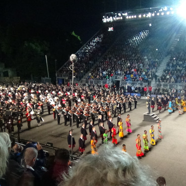 The cast of the 2018 Royal Edinburgh MilIitary Tattoo