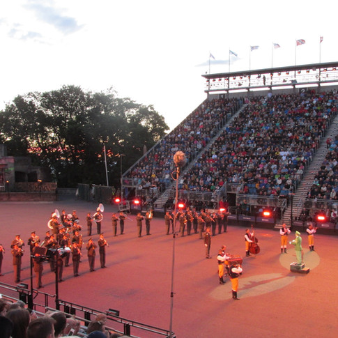The Central Band of the Czech Armed Forces performing a medley of Czech classic tunes