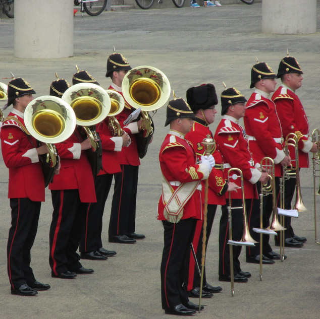 The Band of the King's Division Lower Brass ranks