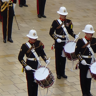 The Corps of Drums of the Band of HM Royal Marines Plymouth