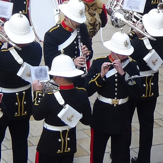 The Piccolo player during the trio section of Hollyrood