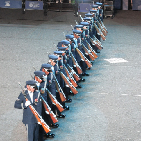 The United States Air Force Honour Guard showcasing their quick reaction times