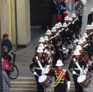 The Band of HM Royal Marines Plymouth arring to play at Bristol Poppy Day 2018